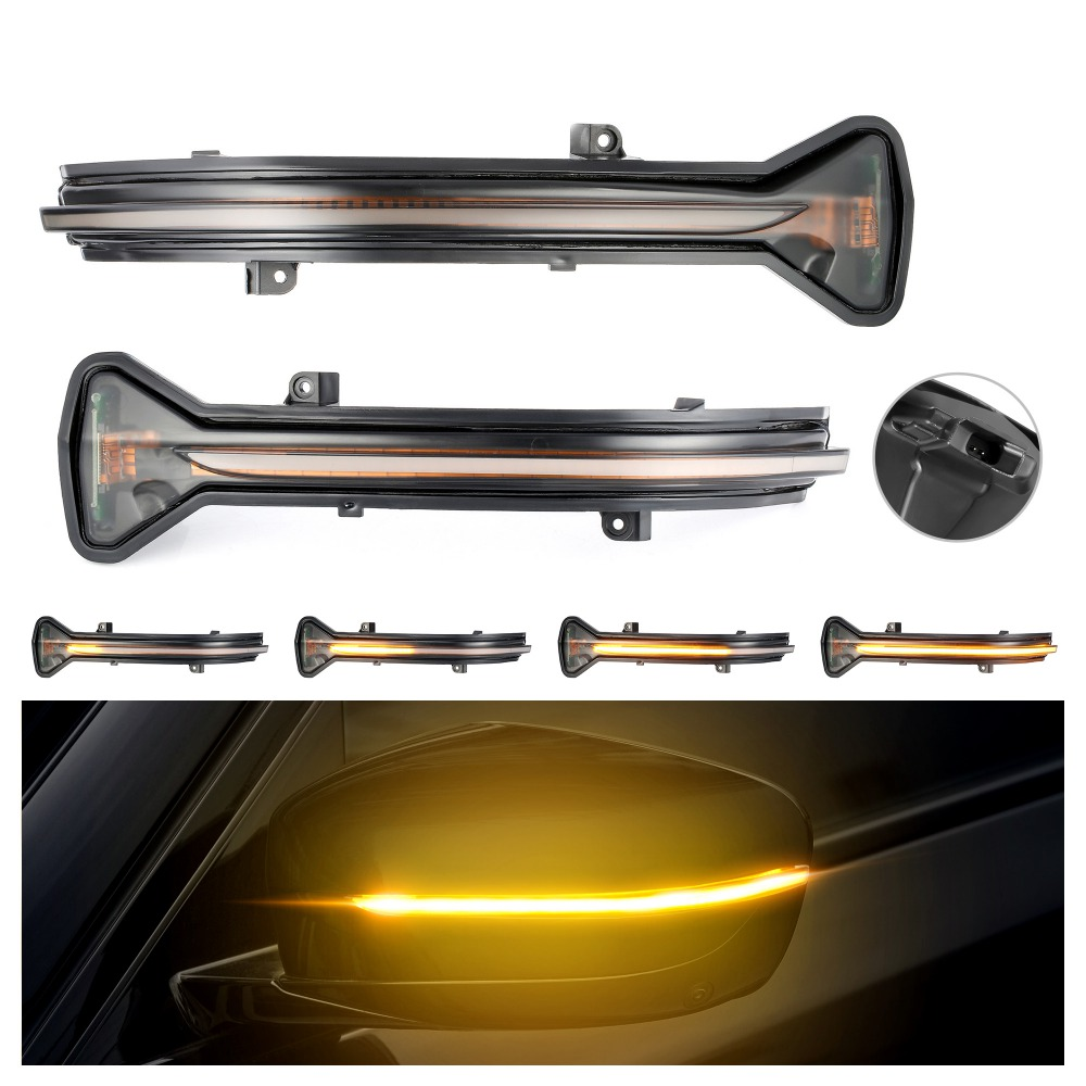 2pcs Dynamic Blinker LED Turn Signal light For BMW G38 G12 G20 G30 G31 G32 G14 G15 G16 G11 G12 M5 F90 5 6 7 8 3 Series 2016 2019-in Mirror & Covers from Automobiles & Motorcycles
