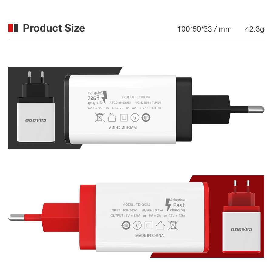 CBAOOO Du Lịch Củ Sạc USB 5V 3A EU Cắm Sạc Nhanh Mini Adapter Sạc Thông Minh Sạc cho Điện Thoại Di Động Sạc