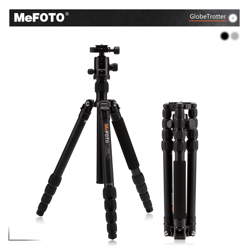 MeFOTO A2350Q2 Tripod Aluminum Tripods For Camera Monopod Q2 Ball Head 5 Section Carry Bag Max Loading 12kg DHL Free Shipping benro pc0 head professional panoramas heads for camera magnesium alloy panhead panoramas clamp max loading 5kg dhl free shipping