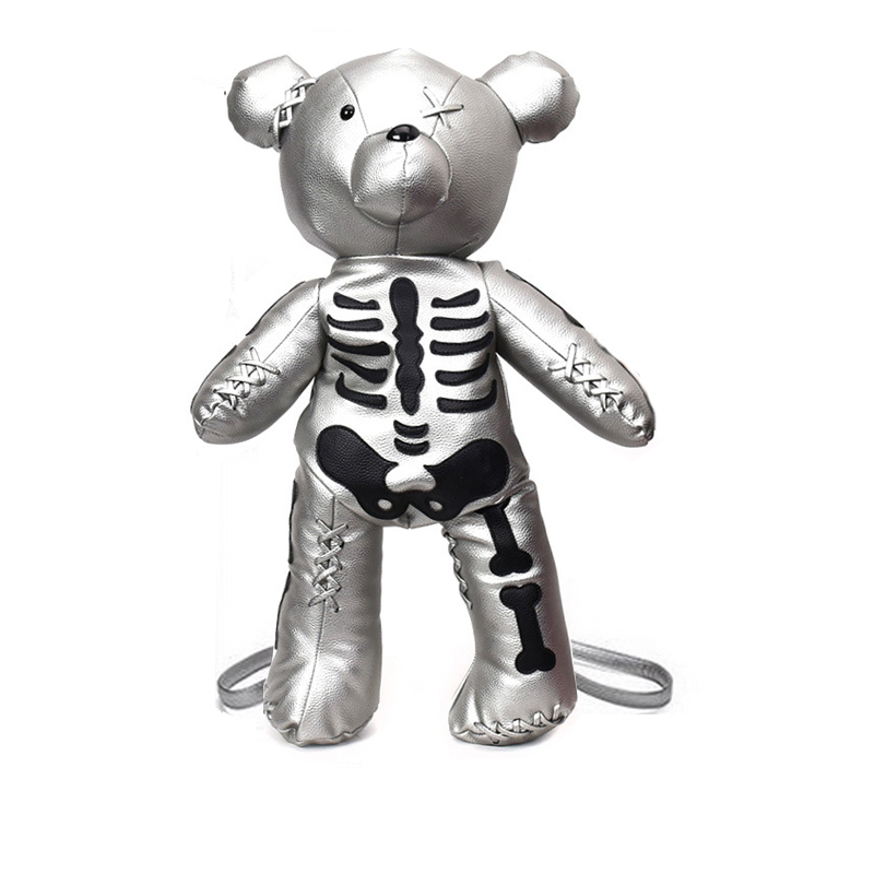 Offre spéciale mode squelette ours femme sac à dos Style Punk sac d'école Designer sacs à dos pour adolescentes cadeaux drop shop