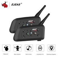 EJEAS 2PCS   Helmet     Headset   Motorcycle Intercom Bluetooth Waterproof Interphone Moto Interfone Comunicador Moto   Headset   1200m