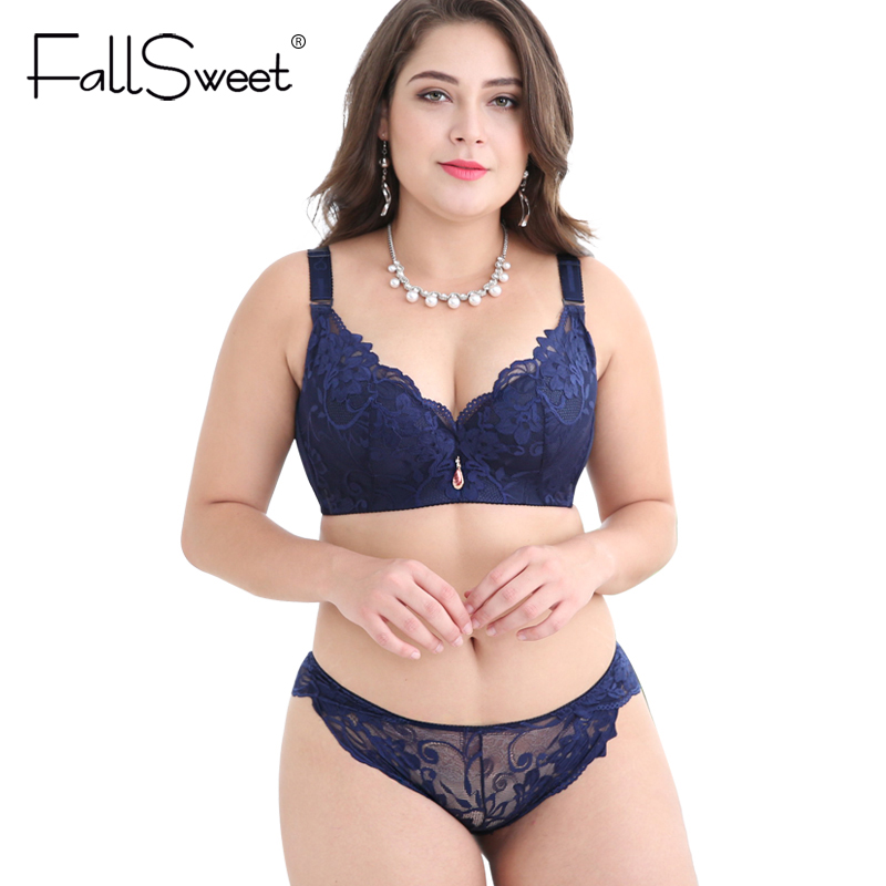... FallSweet Push Up Lace Bra Set for Women PLus Size Bra and Panties Set  Sexy Lingerie ... 6dd4124b9