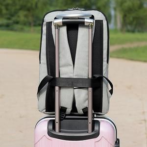 Image 3 - Shellnail حقيبة كمبيوتر محمول مقاومة للماء حقيبة السفر متعددة الوظائف مكافحة سرقة حقيبة للرجال الكمبيوتر على ظهره USB شحن لماك بوك باد