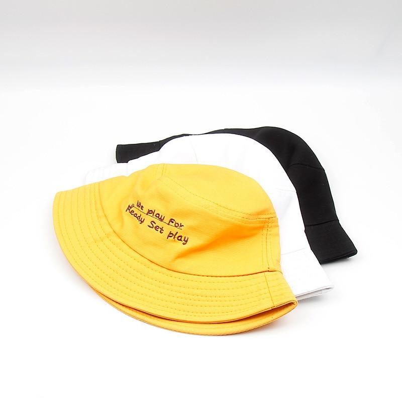 XCZJ Women Sun Hat Cotton Summer Bucket For Female Casual Chapeau Unisex Protection Visor Hats Beach H111