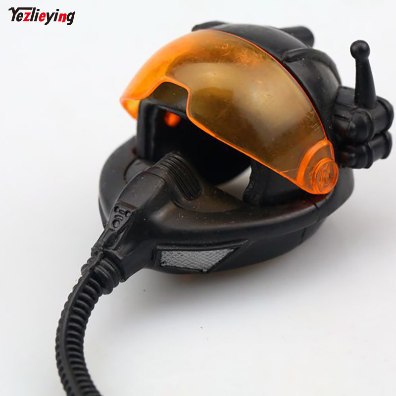 1/6 Soldier Bathroom Accessories Space Pilot Helmet Science Fiction Hat Safety Model Toys for 12in Hottoys Action Figure Gift