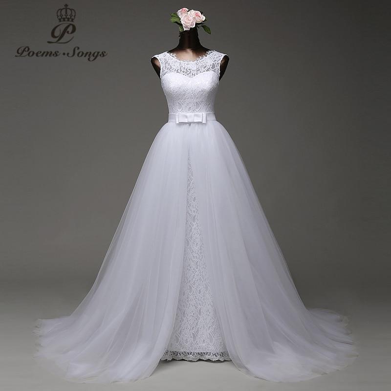Poemssongs Custom Made High Quality Mermaid Wedding Dress