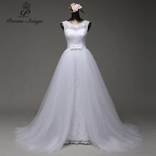Vestido de novia de sirena Poemssongs, personalizado, alta calidad, con tul, tren desmontable, 2020
