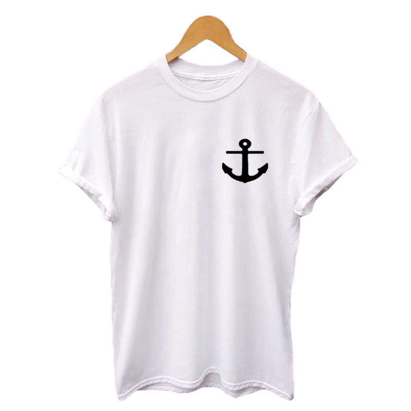 01b02da4 Nautical Anchor Pocket Tee Shirt Funny TShirts Instagram Tumblr T Shirt  Womens Graphic Tees Hipster Cotton Crewneck Tops-in T-Shirts from Women's  Clothing ...