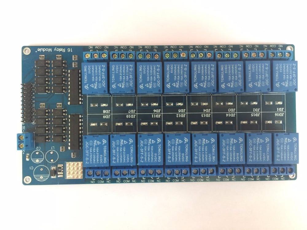 5 V 16 canal relé Junta módulo optoacoplador LED para Arduino PiC brazo AVR