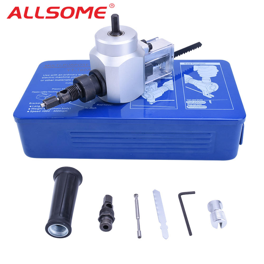 Metal Cutting Double Head Sheet Nibbler Saw Cutter Tool Drill Attachment Free Cutting Tool Nibbler Sheet Metal Hand Tools