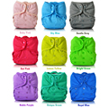 JinoBaby Prefold Diapers Onesize Stay Dry Newborn Diapers Bamboo Cloth Diaper Inserts NB-17KG(with bamboo inserts)