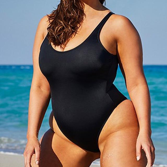 S - 6XL Large Size Swimwear Plus Size One Piece Swimsuit Female Women Bather 2018 Backless Bathing Suit Swim Lady Monikini Y128L