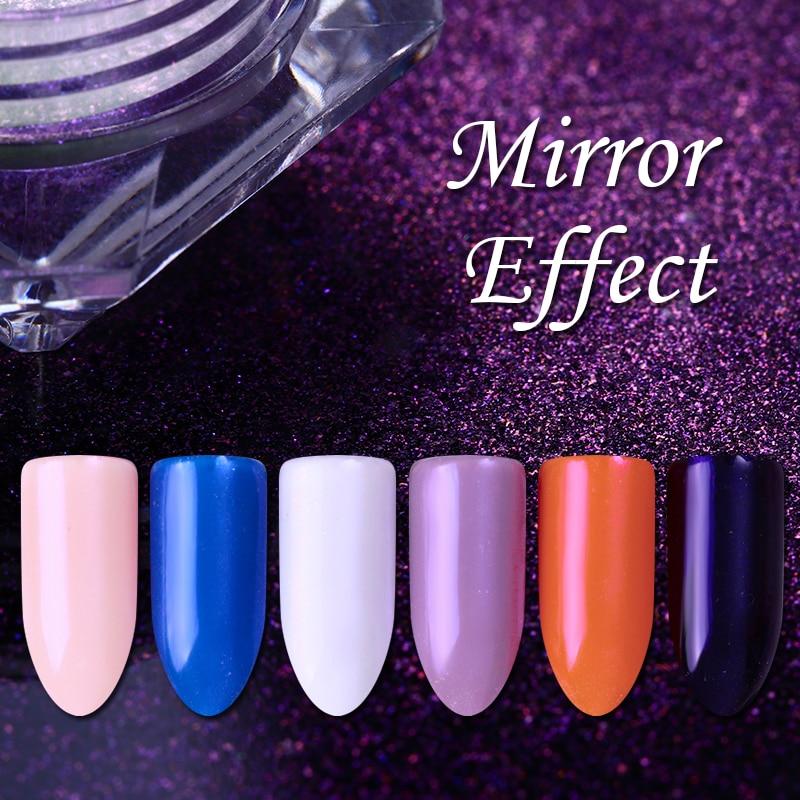 ᗑ】1Box Red Purple Mermaid Diamond Pearl Nail Glitter Powder Silver ...