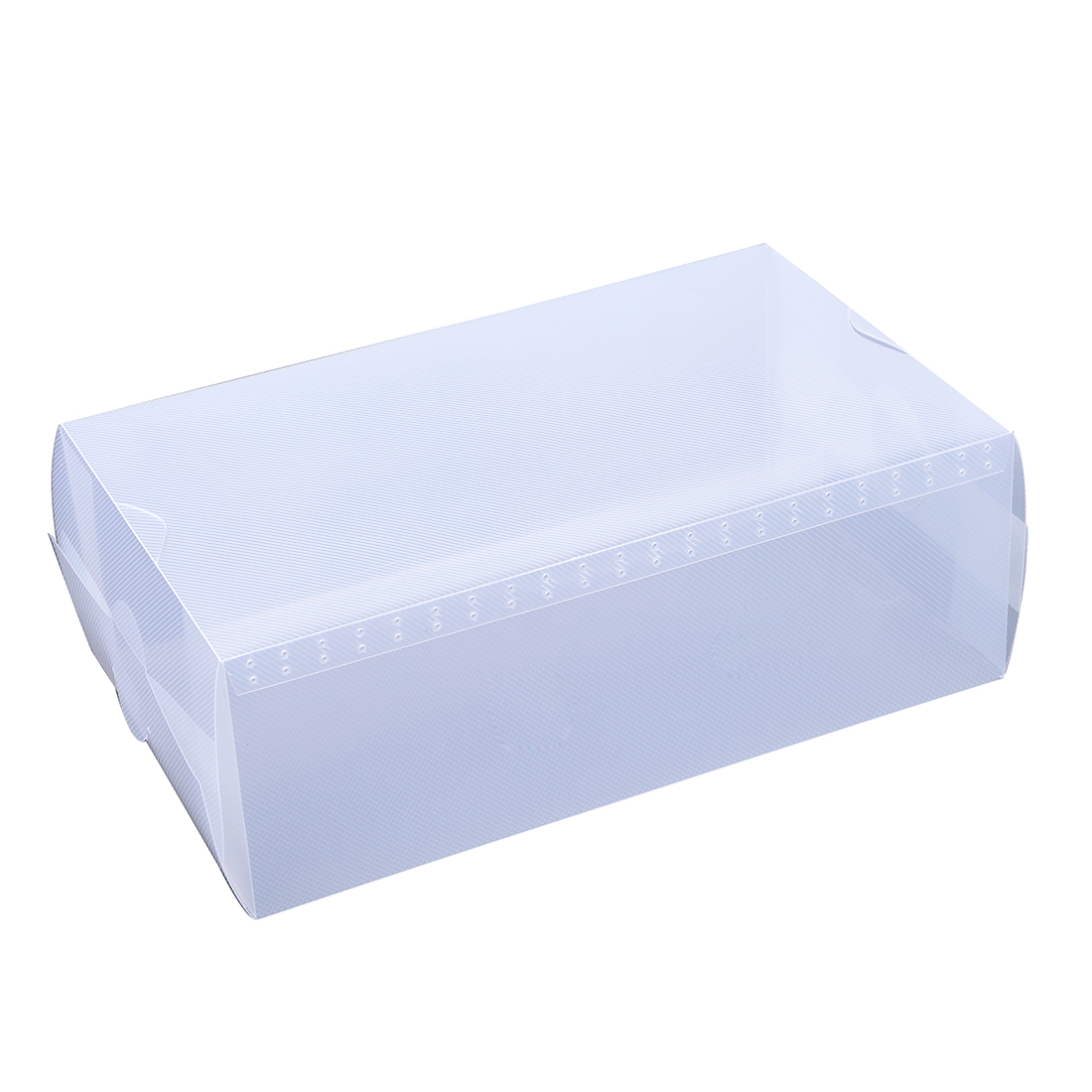 Practical Boutique 5 x Clear Plastic Mens Shoe Storage Boxes Containers Trainers