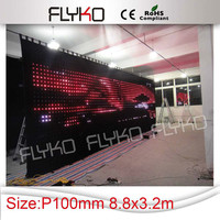 new products dj lighting stage curtain flexible led display
