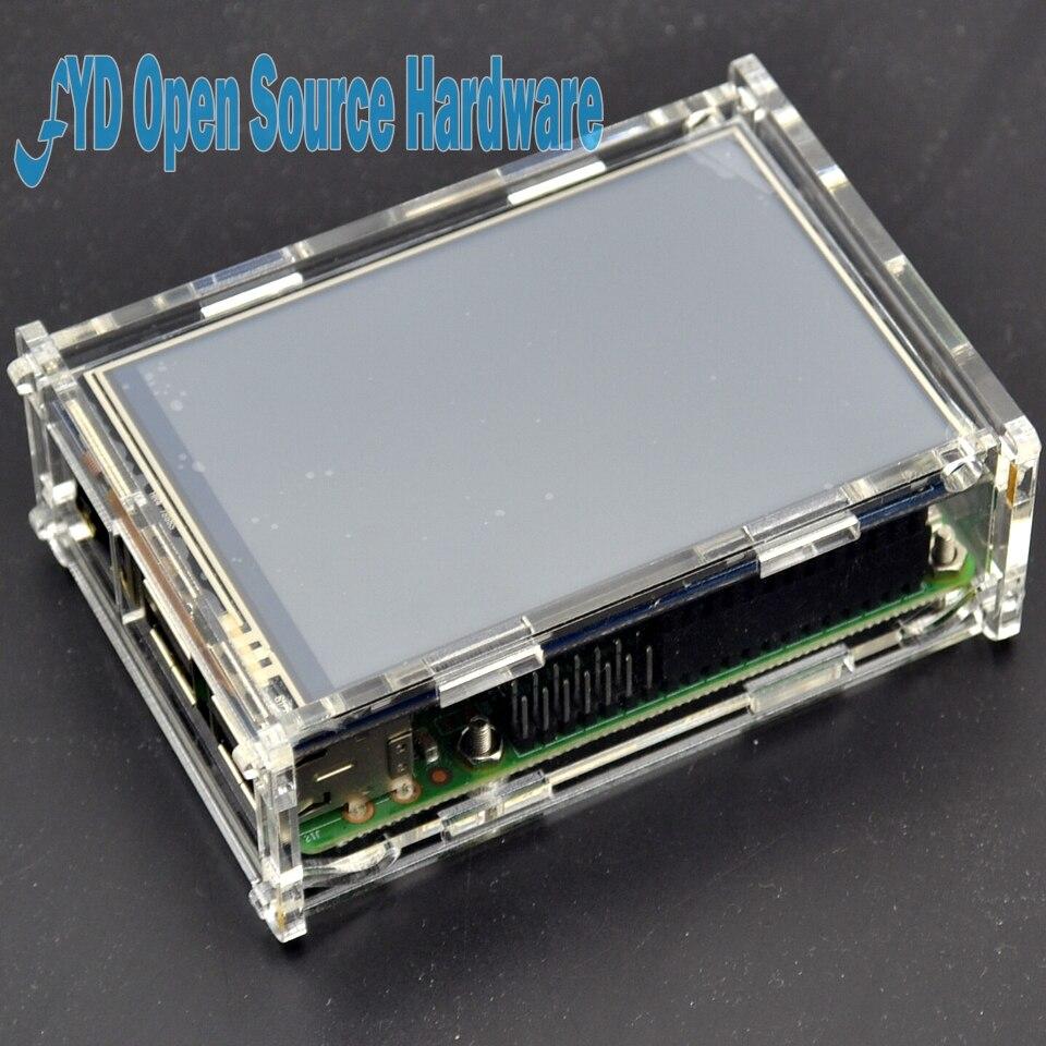 Coque framboise + 3.5 ecran tactile + Raspberry Pi 3 modèle B kit de bricolage