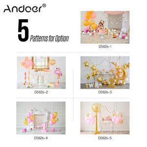 Image 5 - Andoer 2.1 * 1.5m/7 * 5ft First Birthday Backdrop Balloon Cake Photography Background Baby Kids Photo Studio Pros