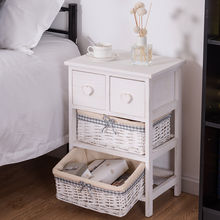 Modern Bedside End Table Organizer