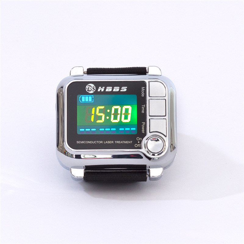Home care  laser light therapy instrument  wrist watch type  reduce high blood pressure hot sale wrist type laser watch istrument to reduce high sugar blood health