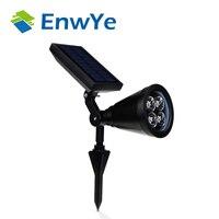 Enwye المصابيح عالية الطاقة الشمسية 4led ماء العشب والحدائق إنقاذ ضوء مصباح لمبة الإضاءة