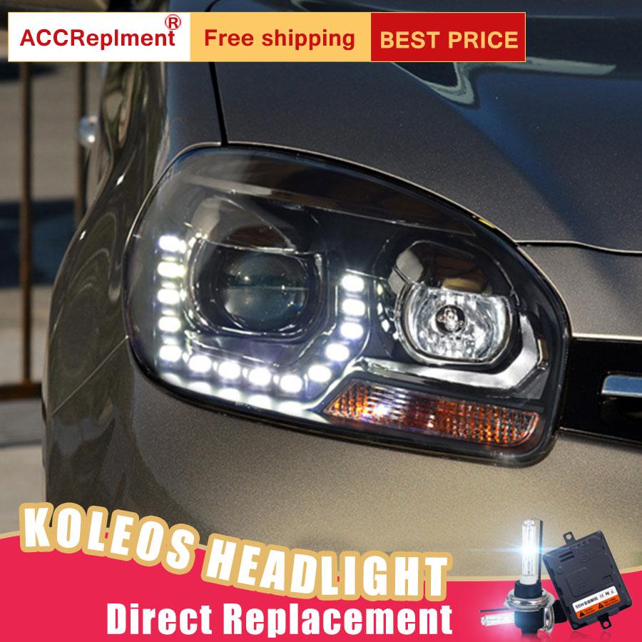 Image 4 - 2Pcs LED Headlights For Renault Koleos 2012 2016 led car lights Angel eyes xenon HID KIT Fog lights LED Daytime Running LightsCar Light Assembly   -
