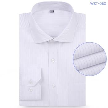 High Quality Striped Twill French Casual Dress Shirts Long Sleeved White Collar Design Style Wedding Tuxedo Cufflinks Shirt недорого