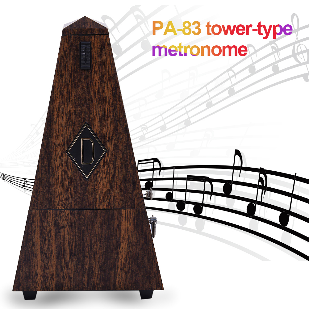 2017 New Hot Sale Tower Shaped Mechanical Metronome For Piano Guitar Bass Violin And Other More