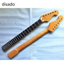 Disado 22 frettes tigre flamme matériel érable palissandre touche guitare électrique cou vente en gros guitare accessoires pièces