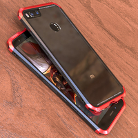 For Xiaomi Mi A1 Case Super Protection Metal Tempered Glass Back Cover Luxury Mi 5X MiA1