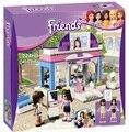 New Original BELA Amigos Meninas café loja de Escola Da Cidade Building Block Define 224 pcs Bricks brinquedos de Montar Compatível lepin