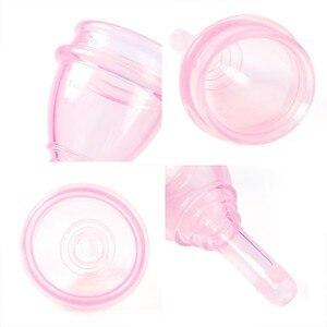 Image 4 - Silicone medico Mestruale Tazza Con Collettore di Scarico Valvole Mestruale Super Soft Igiene femminile Periodo Tazza Anti Perdita laterale