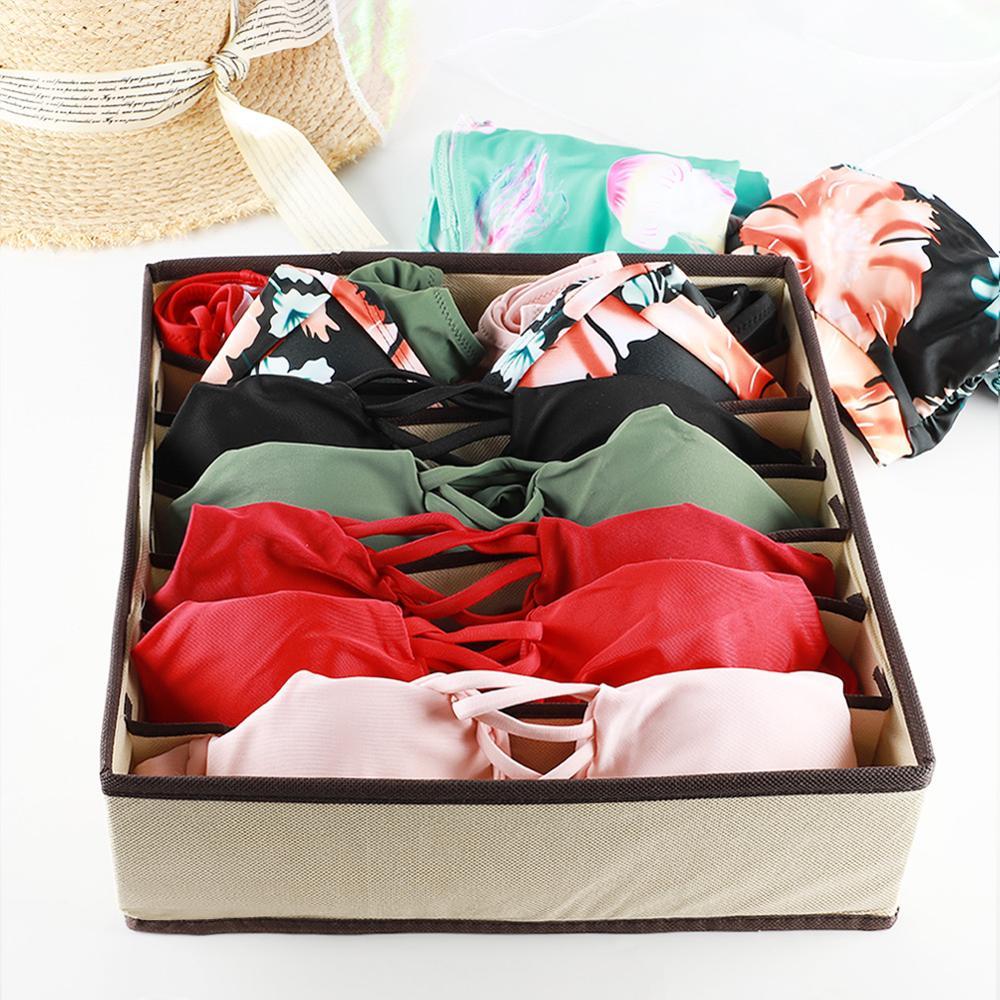 Image 5 - Multi size Underwear Bra Organizer Storage Box Drawer Closet Organizers Boxes For Underwear Scarf Socks Bra Home Storage-in Drawer Organizers from Home & Garden