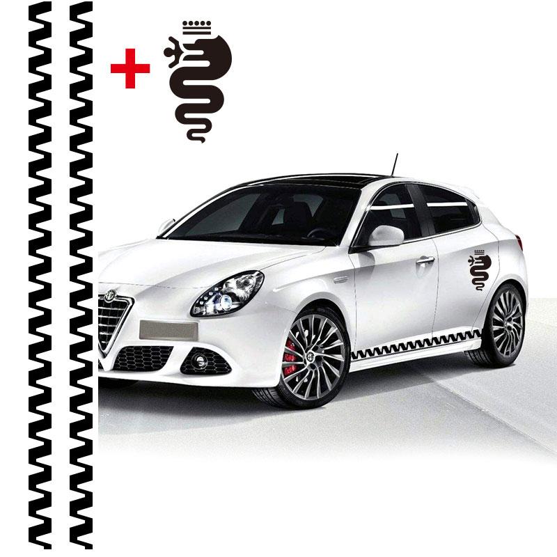 Auto 3 Stks Auto Strepen Vlaggen Voor Alfa Romeo Giulietta Vinyl Onderste Deur Decal Side Stickers Sticker Auto-stylin Kwaliteit En Kwantiteit Verzekerd