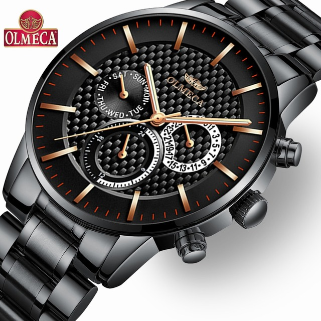 799ed85f298c OLMECA de marca de lujo para hombre relojes deportivos militar impermeable  de los hombres de moda