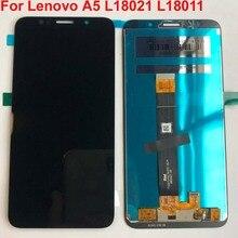 100% oryginalna jakość aaa 5.45 dla Lenovo A5 L18021 L18011 wyświetlacz LCD + montaż digitizera ekranu dotykowego + narzędzia