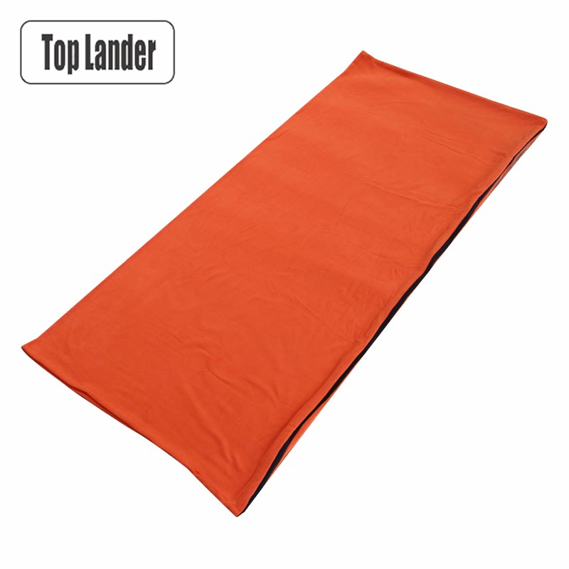 Useful Camping Hiking Fleece Sleeping Bag Liner Adult Spring Winter Single Sleeping Bag Outdoor Gear 5 Color Portable Adult Travel Camp Sleeping Gear