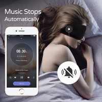 Sleepace sono fones de ouvido, máscara de olho lavável confortável com bloqueio de som/cancelamento de ruído fone de ouvido controle remoto app inteligente
