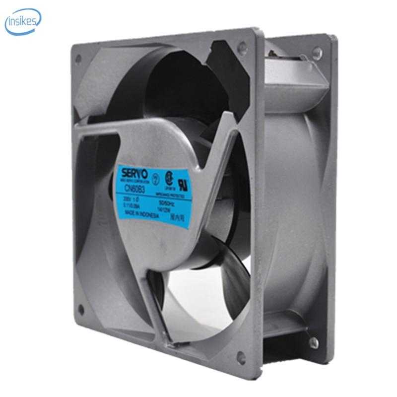 CN60B3 Inverter Cooling Fan AC 200V 0.11A/0.09A 13W/11W 3200RPM 12038 12cm 120*120*38mm 2 Wires new and original pfb1224uhe 12cm 24v 2 40a inverter cooling fan violence for delta 120 120 38mm