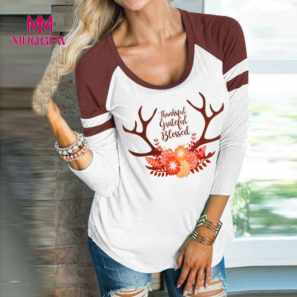 Womens Floral Thankful Grateful Blessed Baseball T-Shirt Casual Vintage Feminine Shirts 2017 New Arrival Woman Girls Clothes