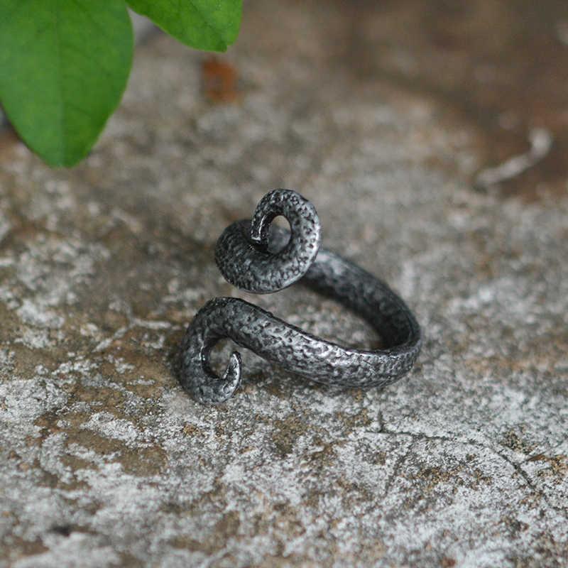 50d37467ce63 Detalle Comentarios Preguntas sobre QIHE de forjado antiguo Viking  retorcido pergamino anillo anillos para hombres Viking joyería nórdica  joyería Viking ...