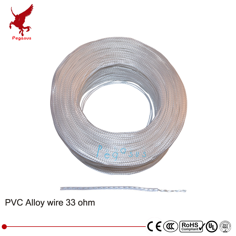 100 mètres Transparent PVC fil chauffant en alliage 5V---220V 33 ohm Anti gel fil Chauffant Chauffage câble USB puissance de chauffage fil
