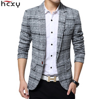2017 New Arrival Business Mens Blazer Casual Blazers Men Lattice Formal Jacket Popular Design Men Dress