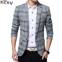 2017 New Arrival Business Mens Blazer Casual Blazers Men Lattice Formal Jacket Popular Design Men Dress