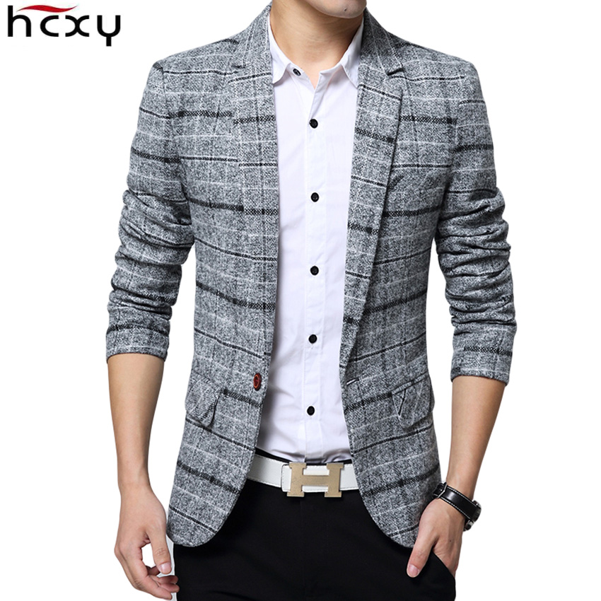 2019 New Arrival Business mens blazer Casual Blazers Men lattice Formal jacket Popular Design Men Dress Suit Jackets