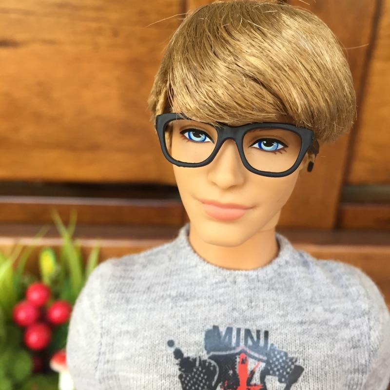 Ken Or Barbie Doll Black Square Frame Reading Glasses New!!
