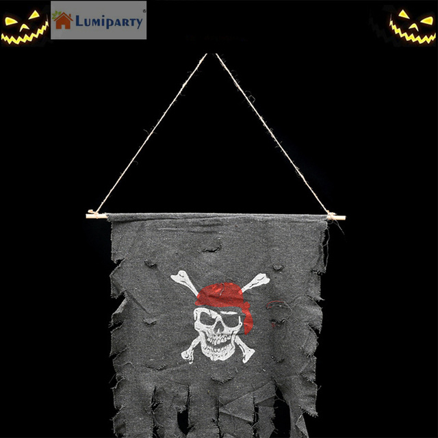 exciting home and garden party. LumiParty Creative Unique Pirate Skull Flag for Halloween Party Decoration  Hanging KTV Christmas Exciting
