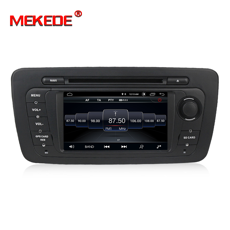 New arrival Mekede android 8 1 Car multimedia system car GPS DVD player for Seat Ibiza