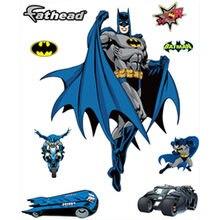 Одежда для сна с мультипликационным принтом «Бэтмен» Наклейки на стены Темный рыцарь 3d Виниловые наклейки для детской комнаты украшения ма...