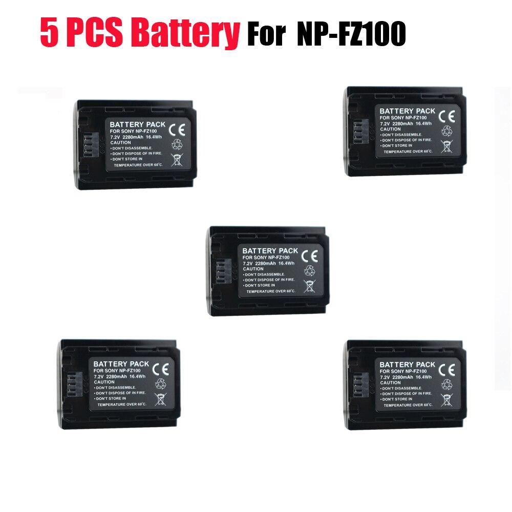 5x 2600mAh NP-FZ100 NP FZ100 NPFZ100 camera battery Rechargeable for Sony Alpha 9 A9 9R A9R 9S A9S A7RIII A7R3 7RM3 A7m3 BC-QZ1 kingma np fz100 dual usb battery charger for sony np fz100 bc qz1 alpha 9 a9 alpha 9r a9r alpha 9s ilce 9 a7m3 a7r3 7rm3