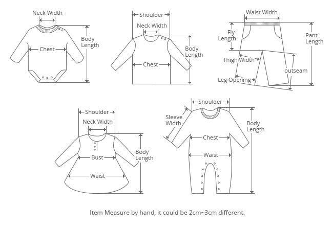 Pajamas Set Size